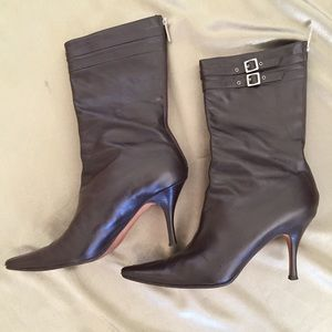 Banana Republic leather boots made in Italy Sz 10